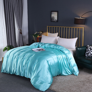Pure Silk Flat Bed Sheets Plain Full Sheet Set Queen
