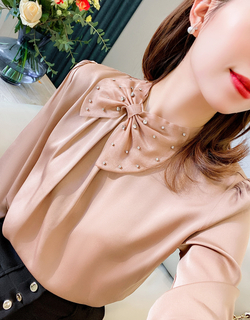 Traditional Designer Silk Long Sleeve Blouses for Women