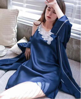 Women Camisole Nightwear Silk Nightdress And Robe