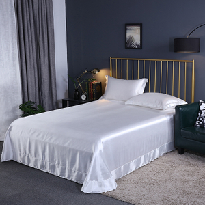 Best Organic Navy Blue Pure Silk Bed Sheets King Sale