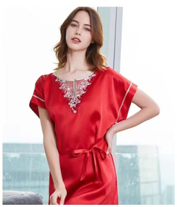 Red Silk And Lace Nightdress Uk for Women