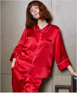 Womens Long Silk Nightgowns in Red